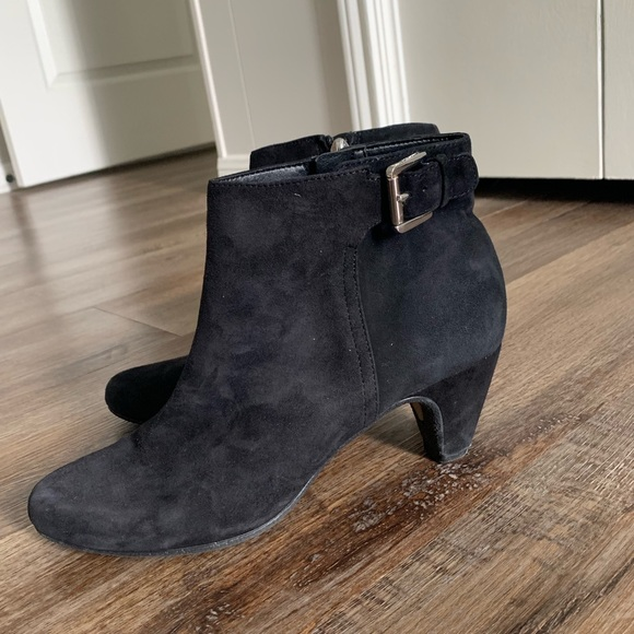 Sam Edelman Shoes - Black Suede Ankle Booties